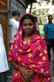 Young Bangladeshi woman in a pretty dress, Fatulla