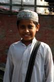 Young boy in a typical cap, Fatulla, Bangladesh