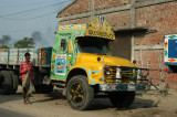Bangladeshi truck painted with the Muslim profession of faith