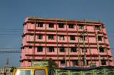 Pink building in southeast Dhaka