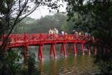 The Huc (Rising Sun) Bridge, 1885, Hoan Kiem Lake, Hanoi