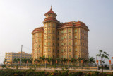 Fancy building along the highway south of Hanoi