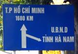 Ho Chi Minh City (Saigon) 1680km south on Highway 1AL