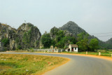 The road to Hoa Lu, which was the capital of Vietnam ca 968-1009
