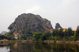 Scenery on the way to Hoa Lu, part of the area known as the inland Halong Bay