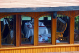Dining room of an adjacent vessel, Bai Chay port