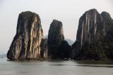 Near vertical monolithic limestone islands, Halong Bay