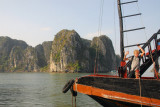 The bow of our boat, the Binh Minh, Halong Bay