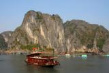 Tourist day cruise boat, Halong Bay