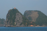 Soi Sim Island with a lookout tower and a Russian-made beach, Halong Bay