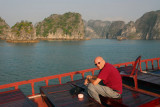 Dad on the Halong Bay cruise