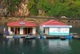 Floating village school built with French financing, Halong Bay