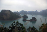 The view from the top of Soi Sim island would have been much better when it was sunny