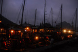 Boats tied up at Soi Sim Island where we stopped for 20 minutes