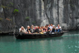 Tourists from one of the larger boats - their motor was annoying in the lagoon