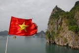 Vietnamese flag, Halong Bay