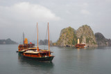Busy area of Halong Bay