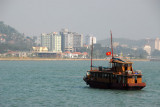 Halong City back in view at the end of our cruise
