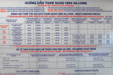 Official prices of boats and tours of Halong Bay, Bai Chay tourist port
