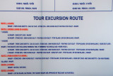 There are 5 different routes for day cruises of Halong Bay