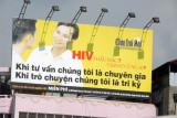 HIV awareness billboard, Hon Gai