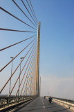 Crossing the new Bai Chay Bridge to Halong City