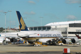 Singapore Airlines A380 at Sydney