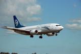 Air New Zealand Boeing 737 landing at AKL