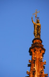 Statue atop the spire of Cathedral of Santa Eulalia, Barcelona