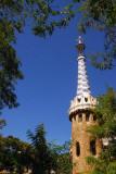 Güell Park's Modernista architecture by Antoni Gaudí