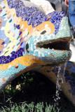 Gaudí's famous multicolored mosaic dragon, Güell Park