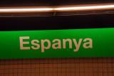 Plaça d'Espanya station on the Barcelona Metro