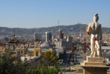 View from the terrace in front of the Palau Nacional over the city of Barcelona