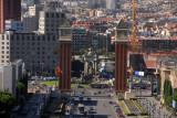 Av. de la Reina Maria Cristina, Plaça d'Espanya and Venetian Towers