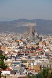Sagrada Familia from Montjuïc, Barcelona