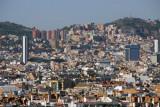 Highrises crowded along Barcelona's Monte del Tibidabo
