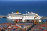 MS Costa Fortuna, Costa Line, at the Port of Barcelona
