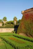 Garden beneath the ramparts of Ramparts of Montjuïc Castle