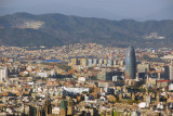 Barcelona with Torre Agbar from Montjuïc Castle