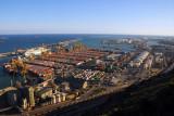 Port of Barcelona from Montjuïc Castle