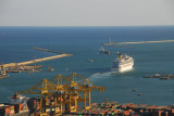MS Costa Fortuna leaving the Port of Barcelona for a Mediterranean cruise