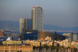 Vila Olimpico and Torre Maphre from Montjuïc