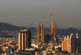 Towers of Sagrada Família from Montjuïc