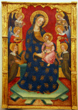 Table I - Mother of God with the angels and saints; Pere Serra, 1385