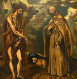 St. John the Baptist and St. Francis of Assisi; El Greco