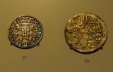 MNAC coin gallery - John V of Portugal cruzado (1707) and Ottoman Sultan Abdul Hamid 2 zolota (1774)
