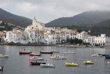Cadaqués harbor with small boats moored