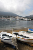 Boats pulled up on the beach, Cadaqués