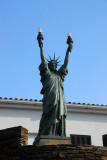 Cadaqués - Statue of Liberty with 2 torches