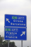 Motorway E-15/AP-7 along the Costa Brava between France and Barcelona